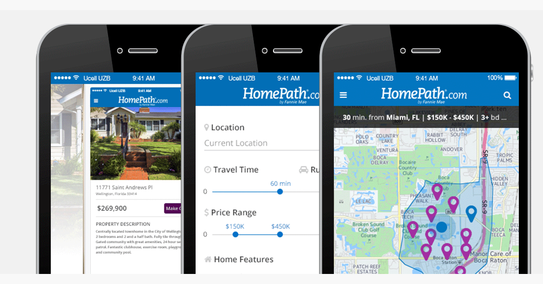 HomePath Mobile App UI