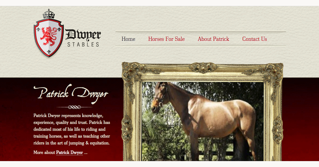 Dwyer Stables Web Design