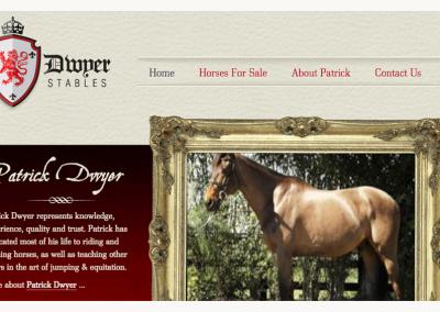 Dwyer Stables Web Design